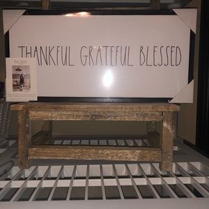 Rae Dunn Greatful Thankful Blessed sign